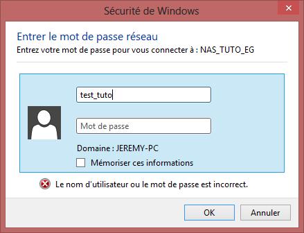 Connexion Users NAS Windows