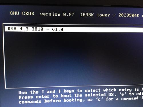 DSM 4.3 GRUB