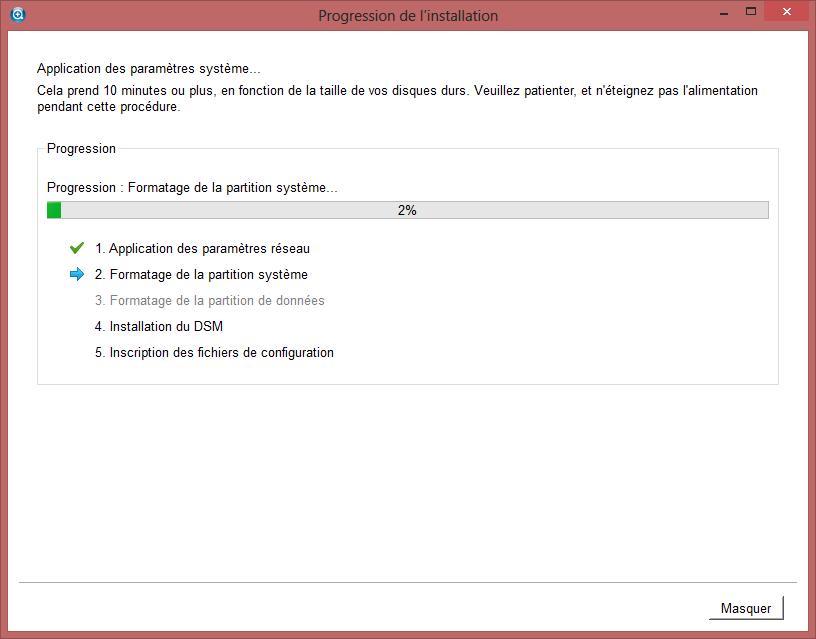 Préparation du NAS - Installation DiskStation